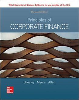 Kartonierter Einband ISE Principles of Corporate Finance von Richard Brealey, Stewart Myers, Franklin Allen