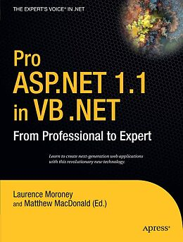 E-Book (pdf) Pro ASP.NET 1.1 in VB .NET von Laurence Moroney, Matthew Macdonald