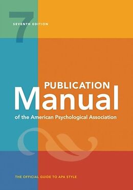 Kartonierter Einband Publication Manual of the American Psychological Association von American Psychological Association