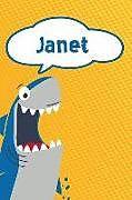 Kartonierter Einband Janet: Personalized Shark Blood Sugar Diet Diary Journal Log Featuring 120 Pages 6x9 von Rob Cole