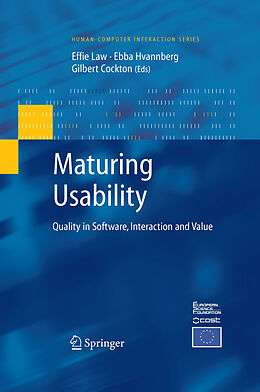 E-Book (pdf) Maturing Usability von Effie Lai-Chong Law, Ebba Thora Hvannberg, Gilbert Cockton