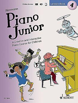 Hans-Günter Heumann Notenblätter Piano junior - Lesson Book vol.4 (+Online Audio Download)