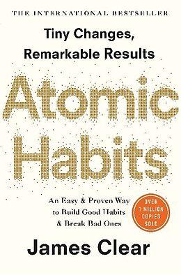 Couverture cartonnée Atomic Habits de James Clear
