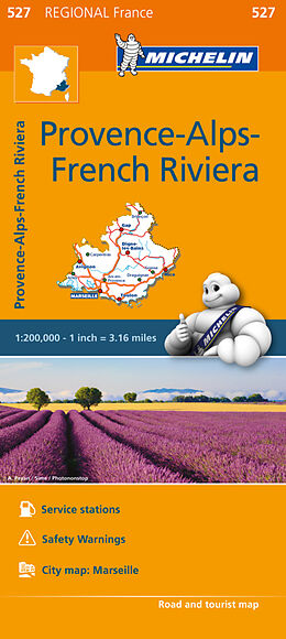 (Land)Karte Provence- Alps - French Riviera - Michelin Regional Map 527 von Michelin Travel & Lifestyle