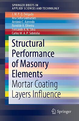 Kartonierter Einband Structural Performance of Masonry Elements von António C. Azevedo, J. M. P. Q. Delgado, Ana Sofia Guimarães