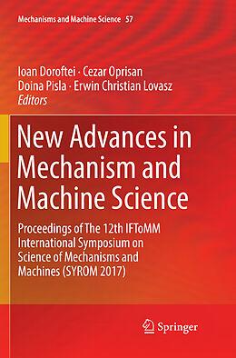 Kartonierter Einband New Advances in Mechanism and Machine Science von