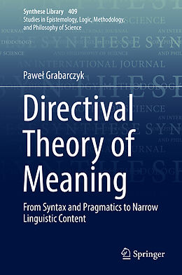 Fester Einband Directival Theory of Meaning von Pawel Grabarczyk