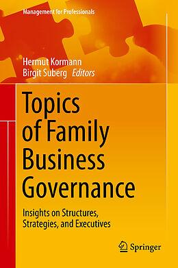 E-Book (pdf) Topics of Family Business Governance von