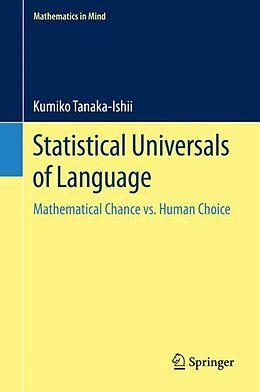 Fester Einband Statistical Universals of Language von Kumiko Tanaka-Ishii