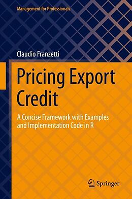 E-Book (pdf) Pricing Export Credit von Claudio Franzetti