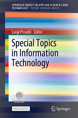 Kartonierter Einband Special Topics in Information Technology von