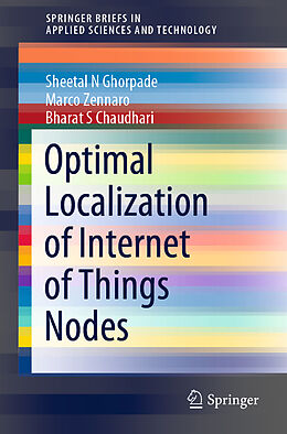 Kartonierter Einband Optimal Localization of Internet of Things Nodes von Marco Zennaro, Sheetal N Ghorpade, Bharat S Chaudhari