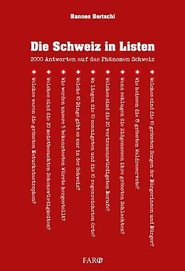 Die Schweiz in Listen [Version allemande]