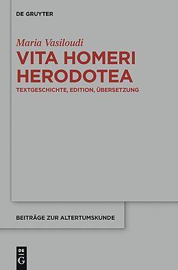 E-Book (pdf) Vita Homeri Herodotea von Maria Vasiloudi