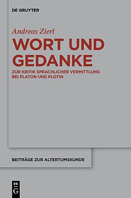 Fester Einband Wort und Gedanke von Andreas Zierl