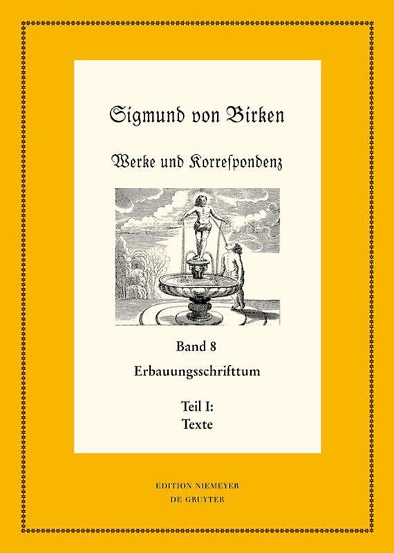 Erbauungsschrifttum 2 Teile Sigmund Von Birken Buch Kaufen