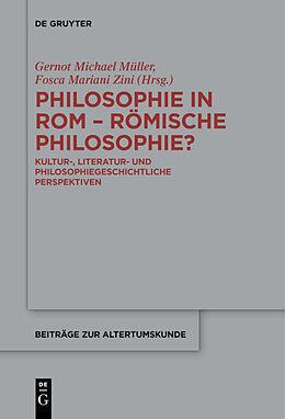 Fester Einband Philosophie in Rom - Römische Philosophie? von