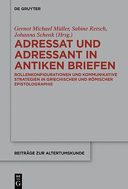Fester Einband Adressat und Adressant in antiken Briefen von