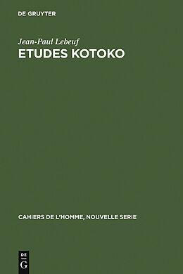 eBook (pdf) Etudes kotoko de Jean-Paul Lebeuf