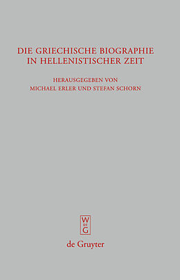 E-Book (pdf) Die griechische Biographie in hellenistischer Zeit von
