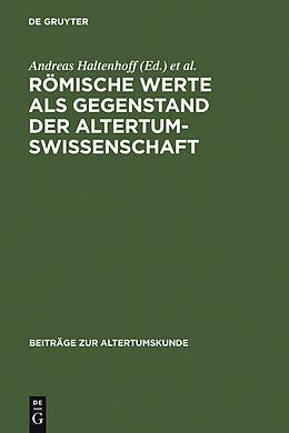 E-Book (pdf) Römische Werte als Gegenstand der Altertumswissenschaft von
