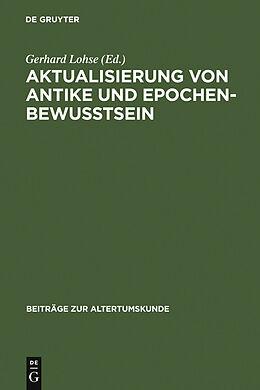 E-Book (pdf) Aktualisierung von Antike und Epochenbewusstsein von
