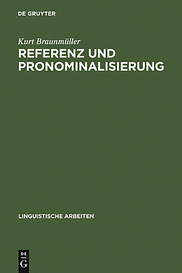 E-Book (pdf) Referenz und Pronominalisierung von Kurt Braunmüller