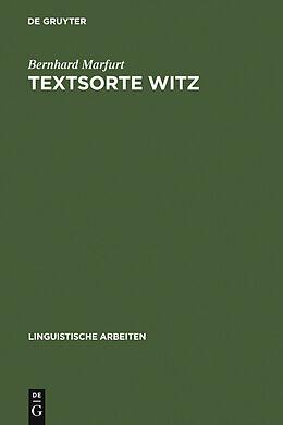 E-Book (pdf) Textsorte Witz von Bernhard Marfurt