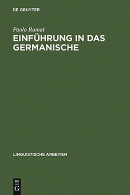 E-Book (pdf) Einführung in das Germanische von Paolo Ramat