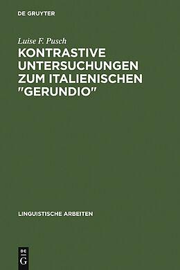 """E-Book (pdf) Kontrastive Untersuchungen zum italienischen """"gerundio"""" von Luise F. Pusch"""