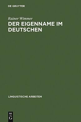 E-Book (pdf) Der Eigenname im Deutschen von Rainer Wimmer