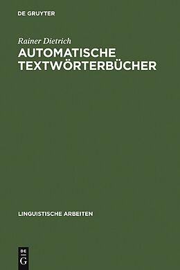 E-Book (pdf) Automatische Textwörterbücher von Rainer Dietrich