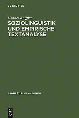 E-Book (pdf) Soziolinguistik und empirische Textanalyse von Hannes Kniffka