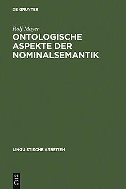 E-Book (pdf) Ontologische Aspekte der Nominalsemantik von Rolf Mayer