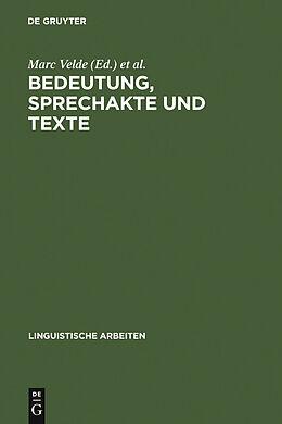 E-Book (pdf) Bedeutung, Sprechakte und Texte von