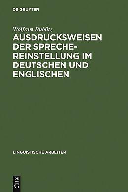 E-Book (pdf) Ausdrucksweisen der Sprechereinstellung im Deutschen und Englischen von Wolfram Bublitz