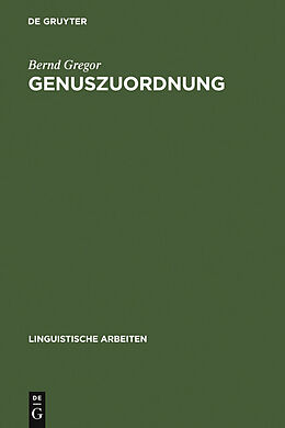 E-Book (pdf) Genuszuordnung von Bernd Gregor