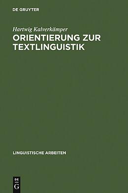 E-Book (pdf) Orientierung zur Textlinguistik von Hartwig Kalverkämper
