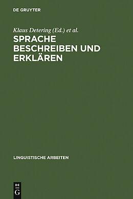 E-Book (pdf) Sprache beschreiben und erklären von