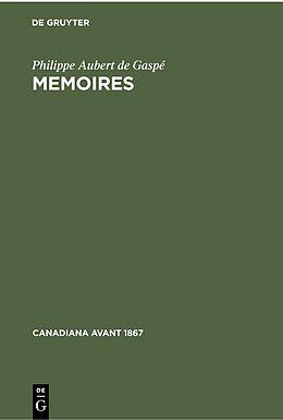 eBook (pdf) Memoires de Philippe Aubert de Gaspé