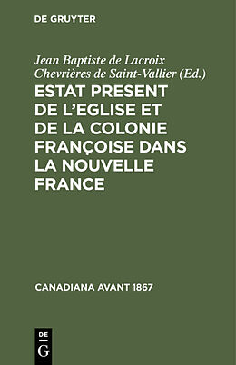 eBook (pdf) Estat Present de lEglise et de la Colonie Françoise dans la Nouvelle France de
