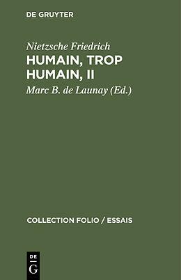 eBook (pdf) Humain, trop humain, II de Nietzsche Friedrich