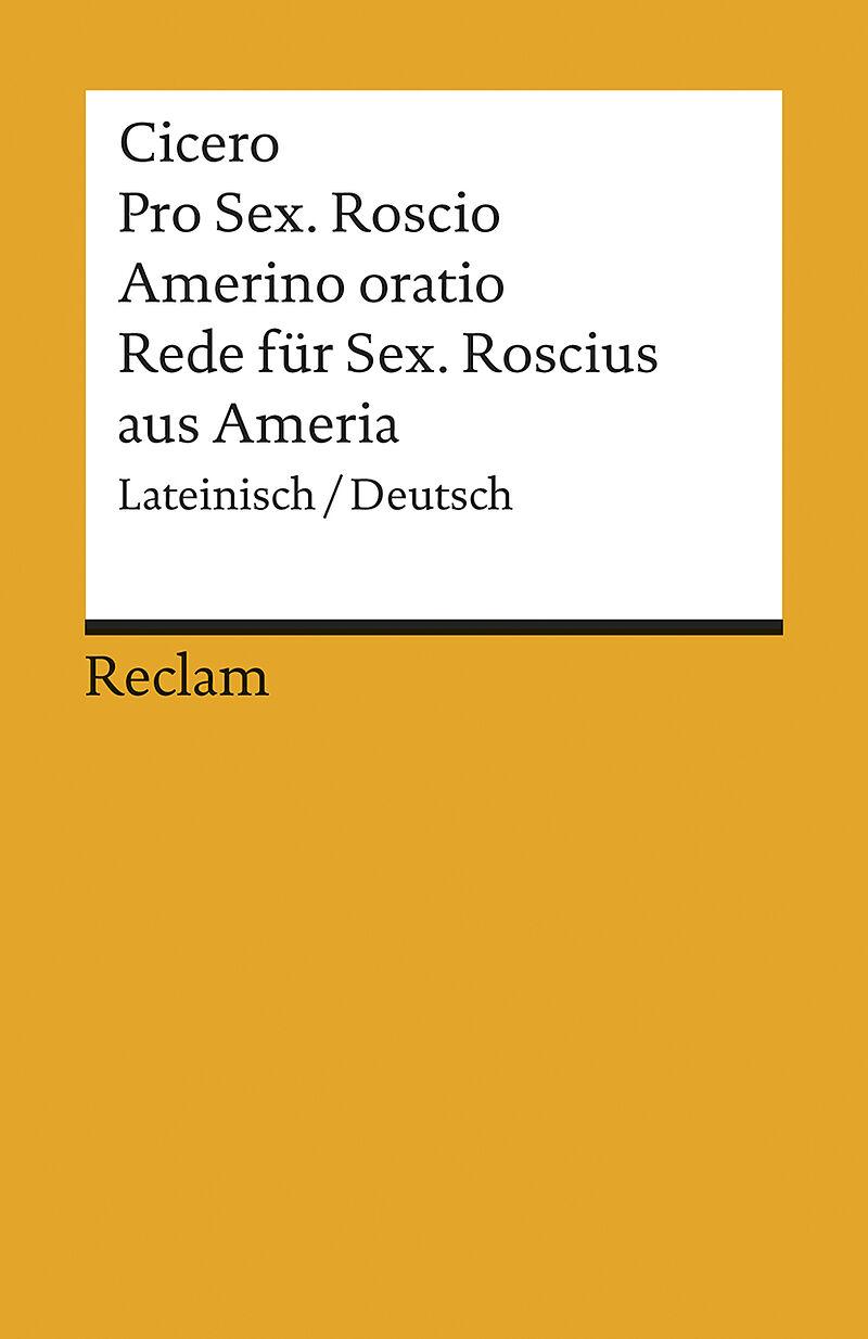 Rede für Sextus Roscius aus Ameria [Version allemande]