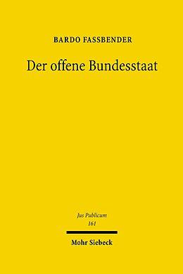 E-Book (pdf) Der offene Bundesstaat von Bardo Fassbender
