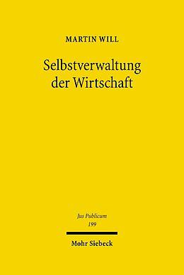 E-Book (pdf) Selbstverwaltung der Wirtschaft von Martin Will