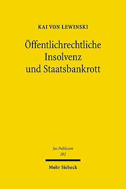 E-Book (pdf) Öffentlichrechtliche Insolvenz und Staatsbankrott von Kai von Lewinski
