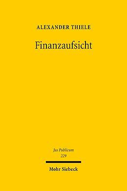 E-Book (pdf) Finanzaufsicht von Alexander Thiele