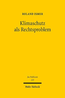 E-Book (pdf) Klimaschutz als Rechtsproblem von Roland Ismer