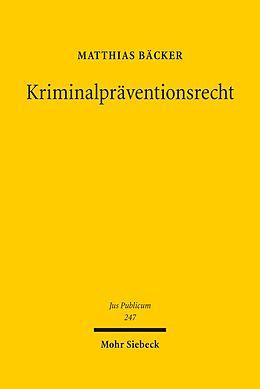 E-Book (pdf) Kriminalpräventionsrecht von Matthias Bäcker