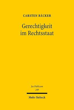 E-Book (pdf) Gerechtigkeit im Rechtsstaat von Carsten Bäcker